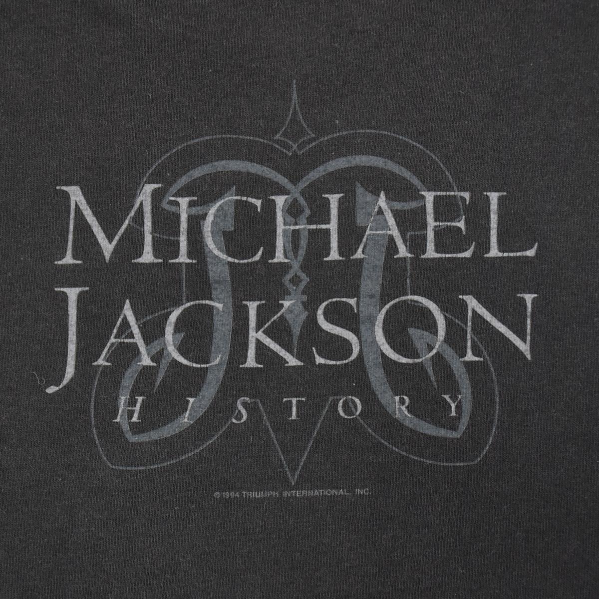 Michael Jackson マイケルジャクソン ★ リー Leeボディ USA製 ヴィンテージ 90s 1994 HISTORY コピーライト有 半袖 Tシャツ 黒 L_画像9