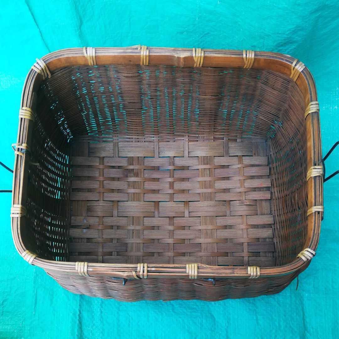 魚籠 昭和レトロ 3段 竹細工 伝統工芸 鮎 渓流 釣り道具 手作り かご 古民具 竹かご _画像5