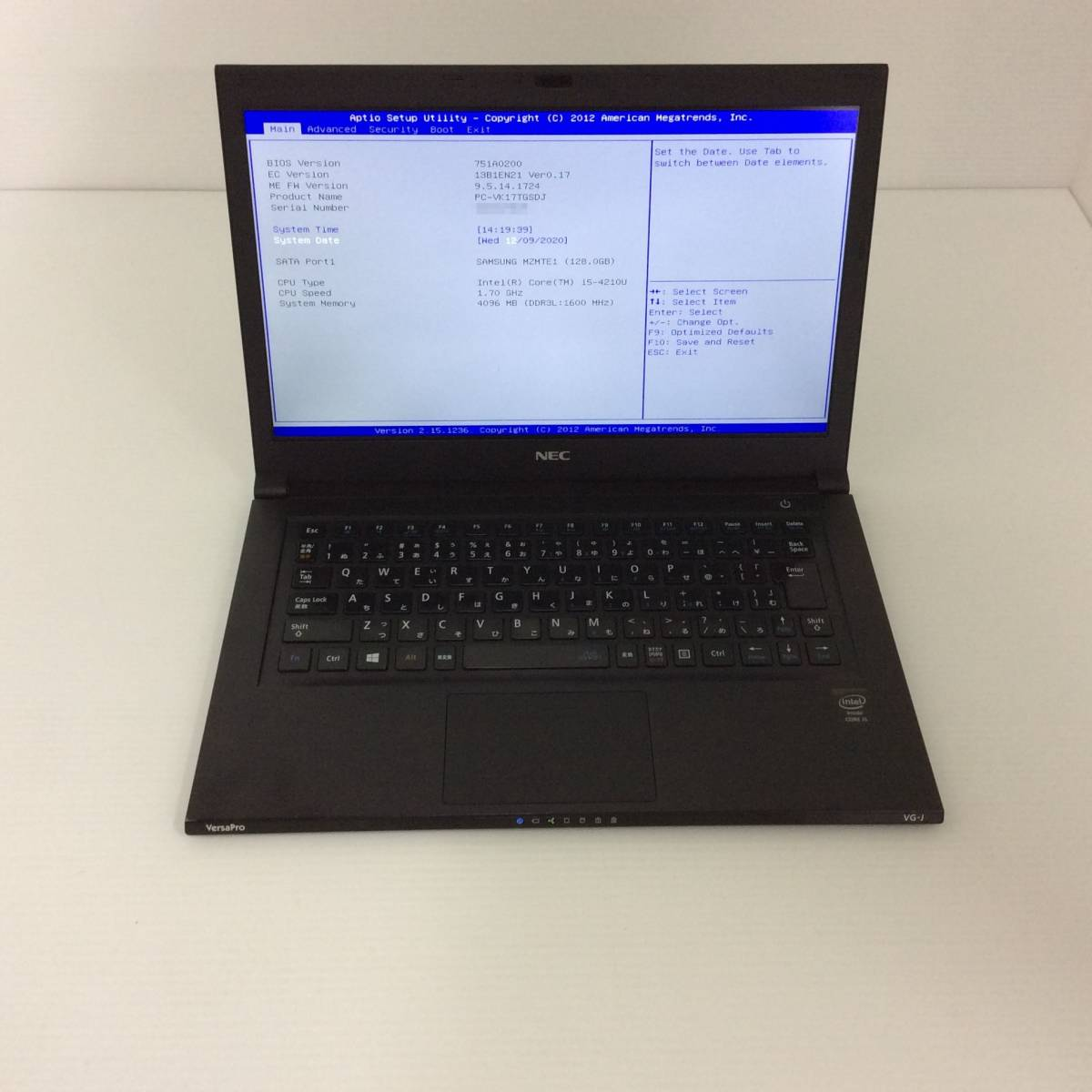 NEC Versa Pro PC-VK17TGSDJ / Intel Core i5-4210U 1.70GHz / 4GB / 128GB R326_画像7