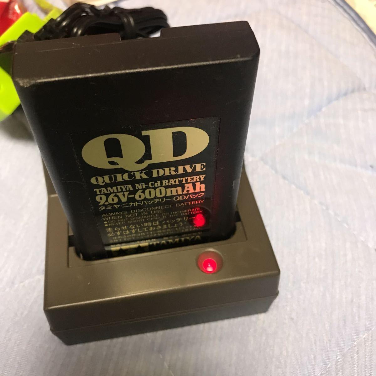 タミヤ QDパックニカド バッテリー & 急速充電器セットTAMIYA ACアダプター クイックドライブ ラジコン