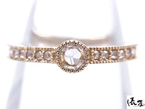 【ローズカット】K18PG 0.13ct ダイヤモンドリング アンティーク 指輪 ピンクゴールド_画像2