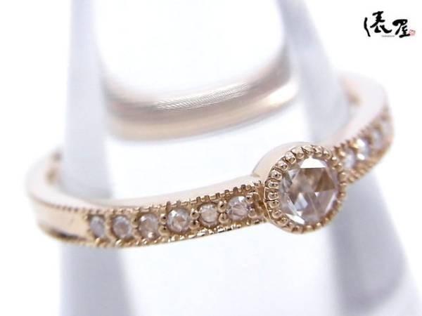 【ローズカット】K18PG 0.13ct ダイヤモンドリング アンティーク 指輪 ピンクゴールド_画像3