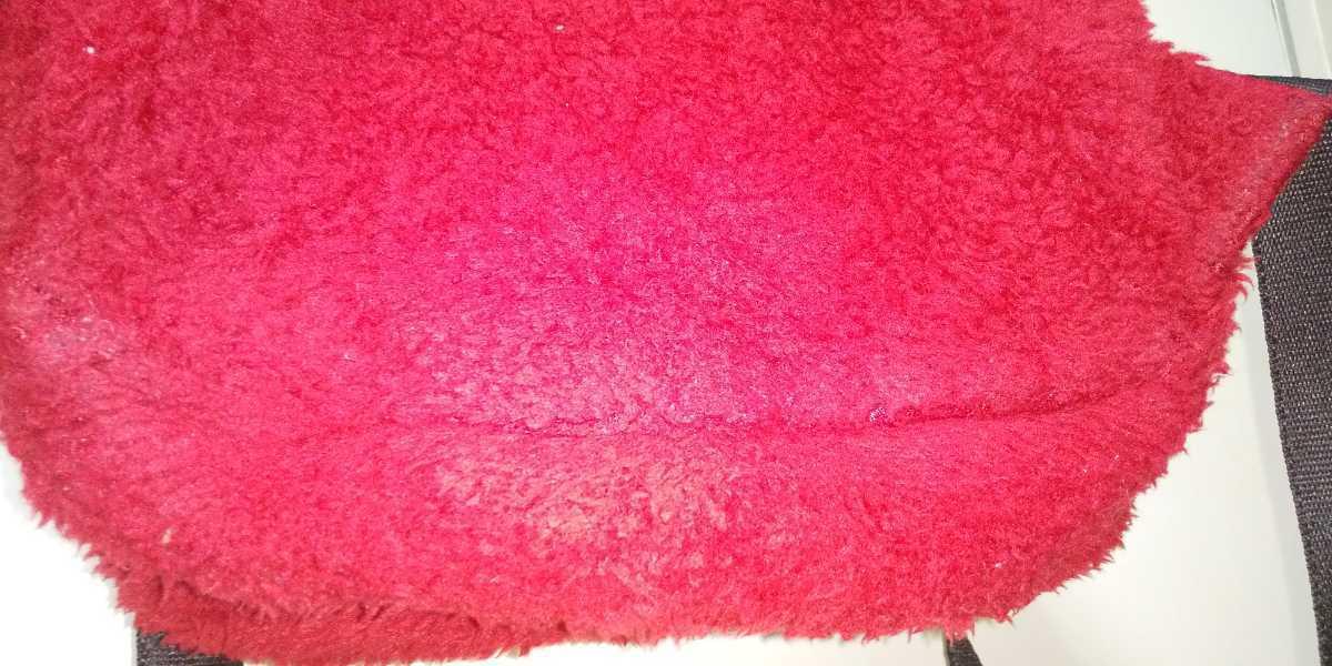 UNIQLO ミニ ボア リュック 赤 red 赤坦 ユニクロ モコモコ キッズ GU ジーユー ファストファッション 冬物 ミニリュック キッズサイズ_画像6