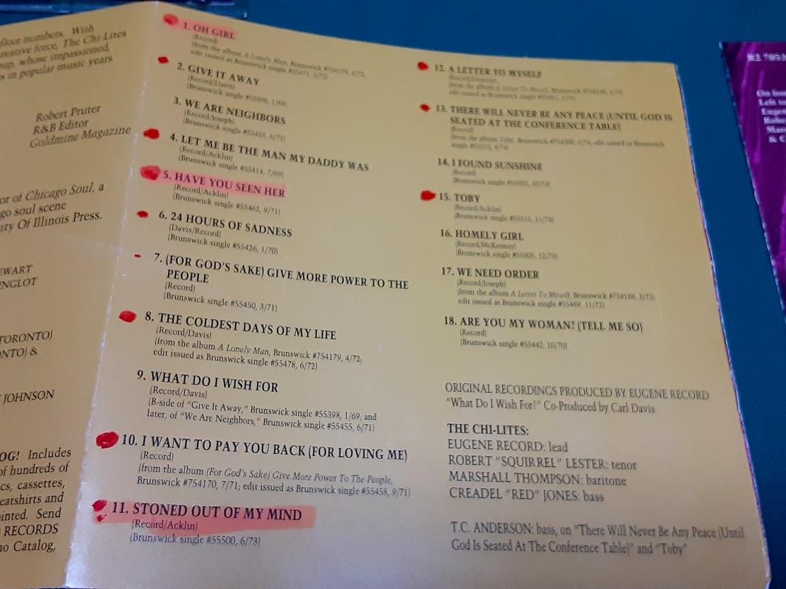 CHI-LITES,THE/ザ・シャイ・ライツ◆『Greatest Hits』輸入盤CDユーズド品 ※難あり_※書き込み(丸付け、アンダーライン)あり