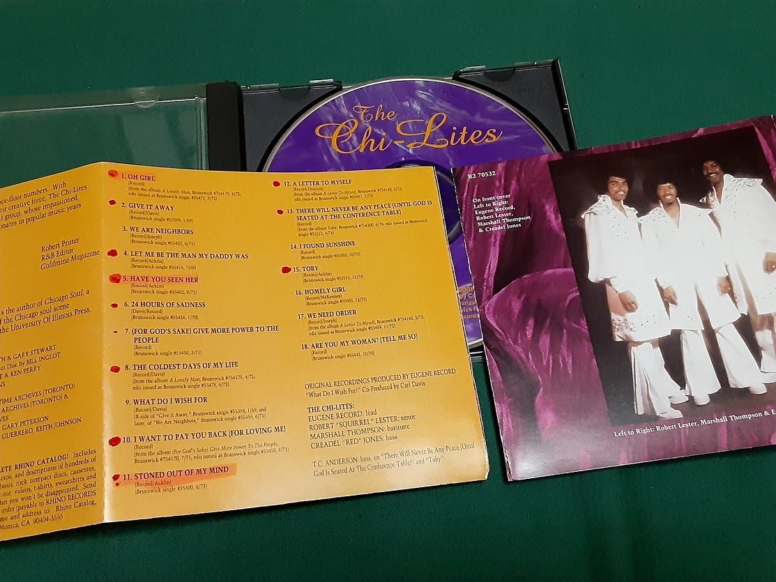 CHI-LITES,THE/ザ・シャイ・ライツ◆『Greatest Hits』輸入盤CDユーズド品 ※難あり_※裁断箇所あり