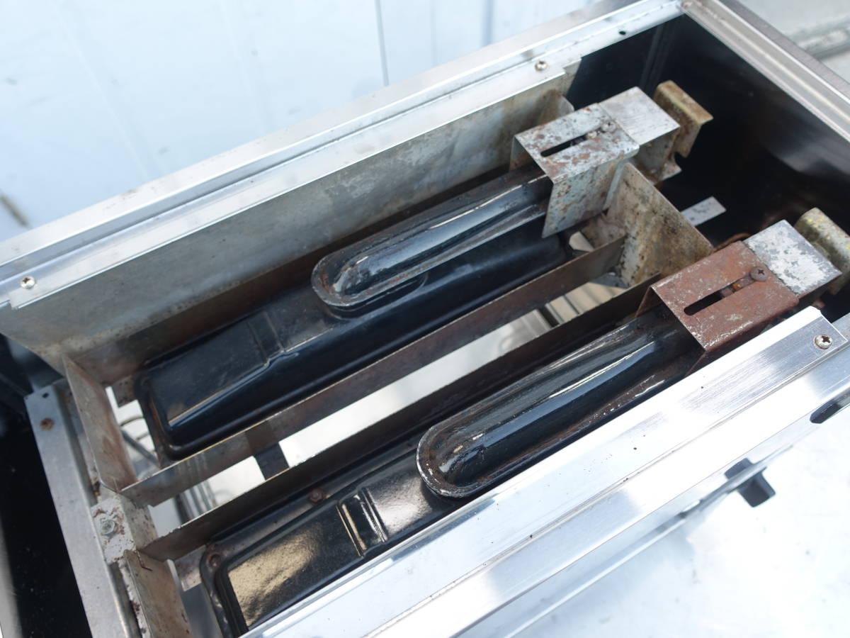【中古】M▽大阪ガス リンナイ 赤外線グリラー 焼物器 リンナイペットミニ 上火式 卓上 都市ガス 12A 13A (N)12-189 RGP-42B (16995)_画像6