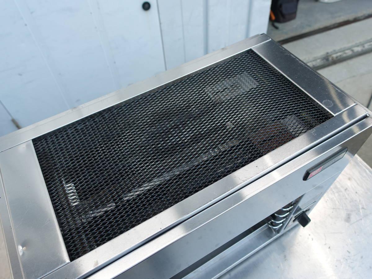 【中古】M▽大阪ガス リンナイ 赤外線グリラー 焼物器 リンナイペットミニ 上火式 卓上 都市ガス 12A 13A (N)12-189 RGP-42B (16995)_画像5