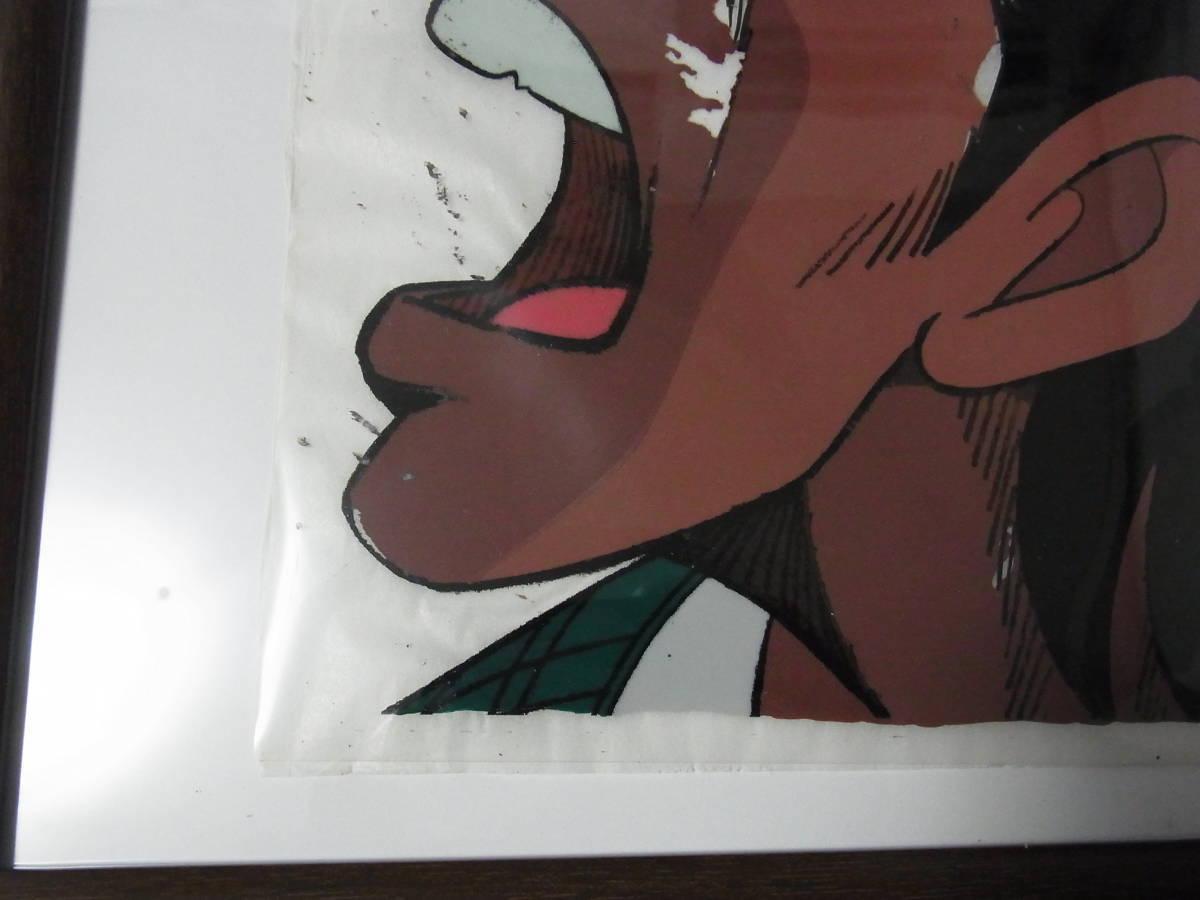 198 あしたのジョー セル画 ハリマオ カラー 額縁付 希少品_お部屋のオブジェに!