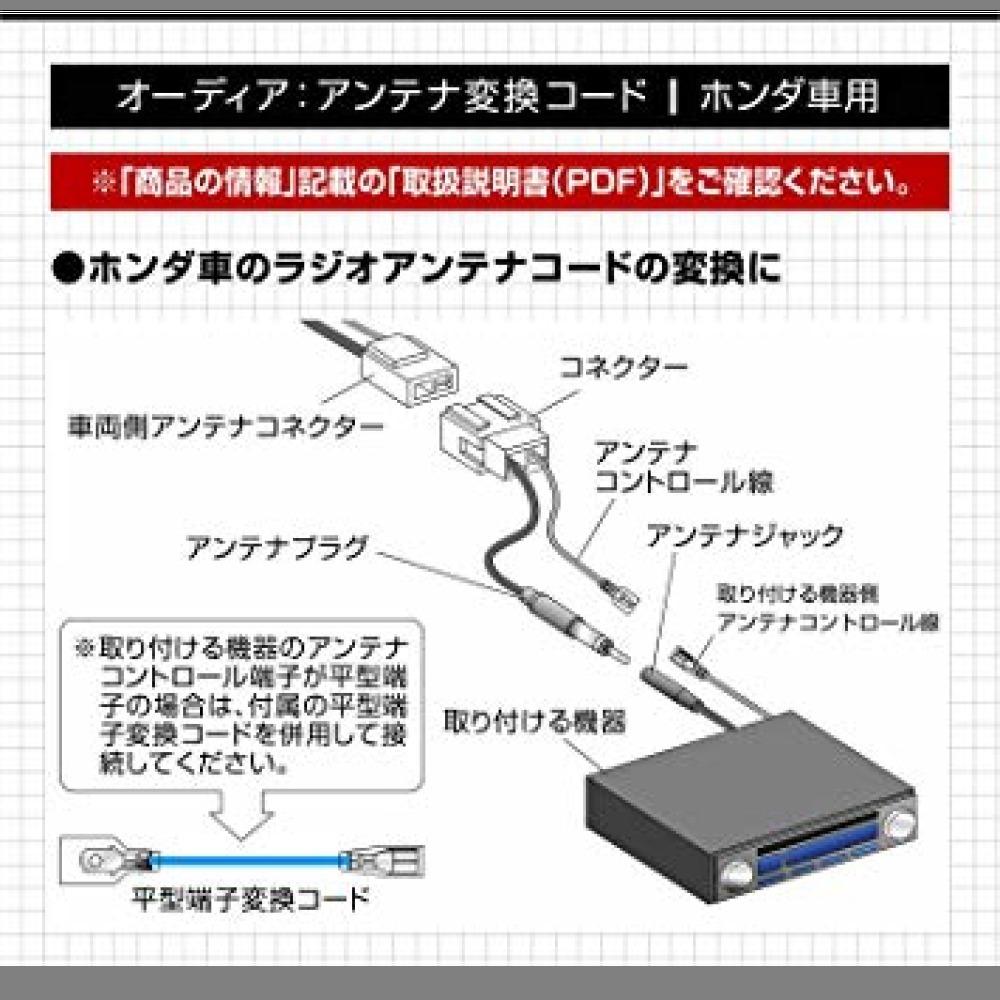 処分・【Amazon.co.jp限定】エーモン AODEA(オーディア) アンテナ変換コード ホンダ車用 (2065)_画像2