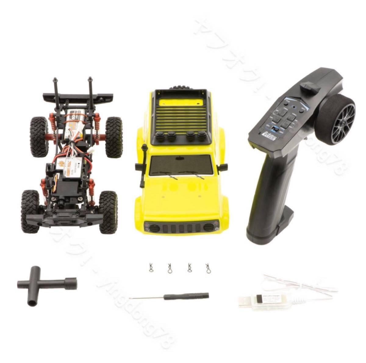 HobbyPlus CR-24GA 1/24 スズキジムニーSuzuki Jimnyラジコンオフロード4WD リモートコントロール RCカー クローラー RTR(黄色)