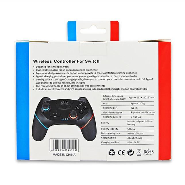 Switch コントローラー 小型6軸ジャイロセンサー搭載 無線 HD振動 スイッチコントローラー Bluetooth接続 任天堂 Nintendo Switch 対応