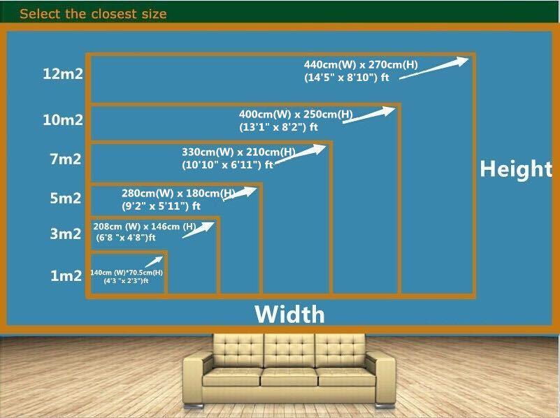 Beibehang カスタム壁紙緑の森ビッグツリー 3D テレビ背景水風景装飾背景 3d 壁紙_画像5