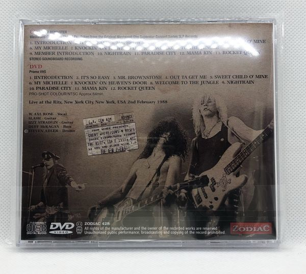 【定番!】ZODIAC-428: GUNS N' ROSES - RITZ 1988 DEFINITEVE EDITION: 2020 REMASTER [ガンズ、アクセル、スラッシュ]_画像2