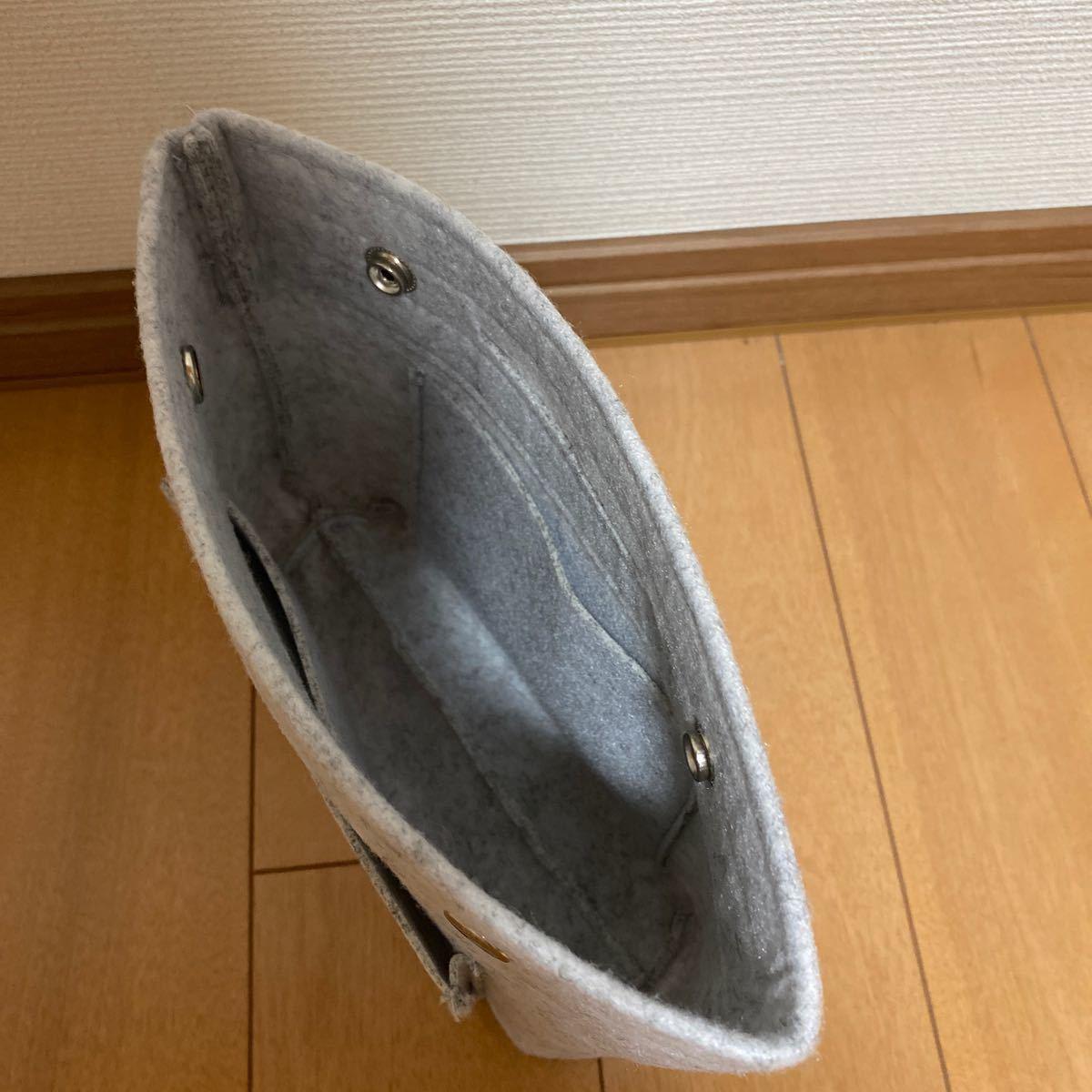 バッグインバッグ フェルト メンズ レディース 選べる2サイズ 小さめ 大きめ 小物入れ インナーバッグ バックインバック 整理