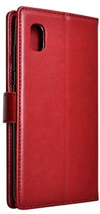 シズカウィル(shizukawill) Galaxy A21 docomo SC-42A 手帳型 赤色 PUレザー レッド_画像2