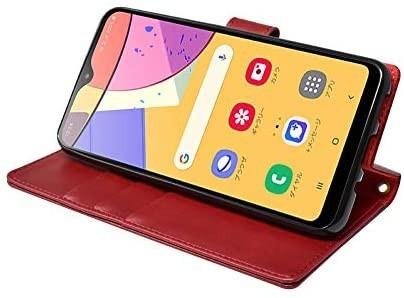 シズカウィル(shizukawill) Galaxy A21 docomo SC-42A 手帳型 赤色 PUレザー レッド_画像5