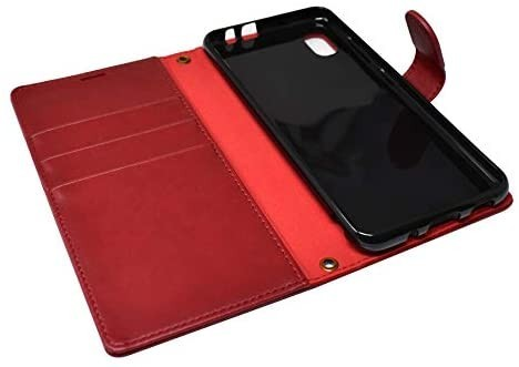 シズカウィル(shizukawill) Galaxy A21 docomo SC-42A 手帳型 赤色 PUレザー レッド_画像3