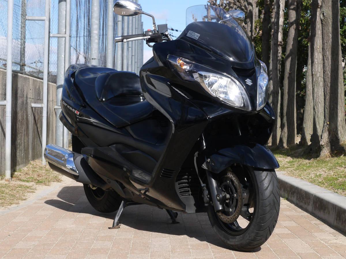 「(大阪より) スカイウェイブ スカイウェーブ (CJ46A)!14,228km!メタリックブラック!」の画像2