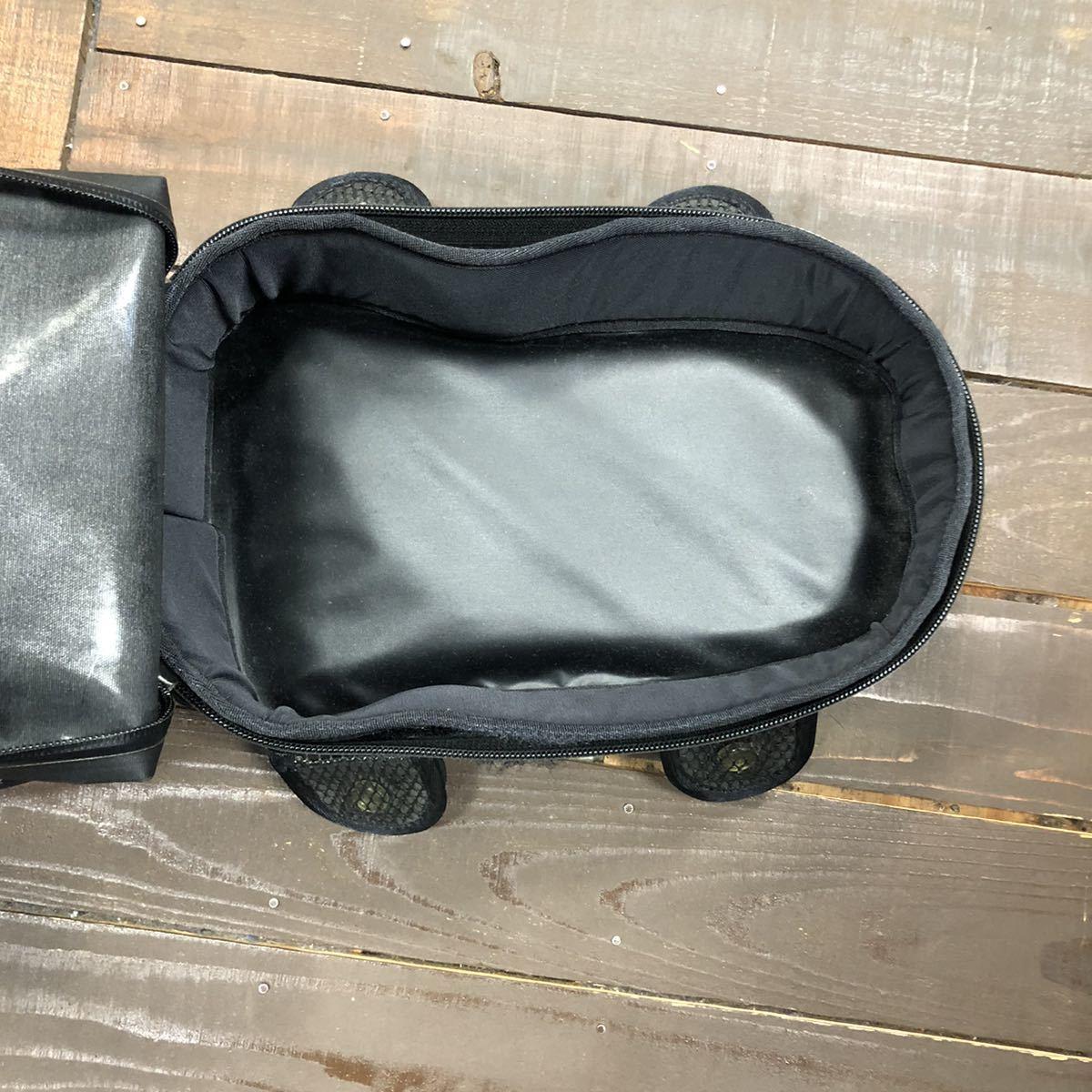 HONDA ホンダ スポルトシート バッグ バイク 中古 使用感あり 止水ジップ ブラック 黒_画像7