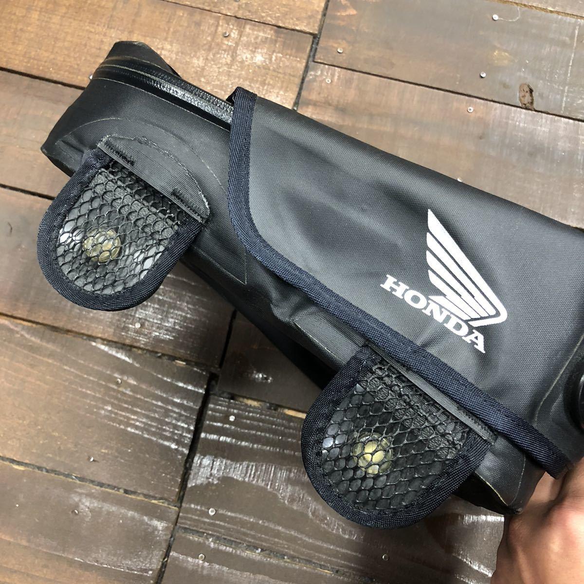 HONDA ホンダ スポルトシート バッグ バイク 中古 使用感あり 止水ジップ ブラック 黒_画像4