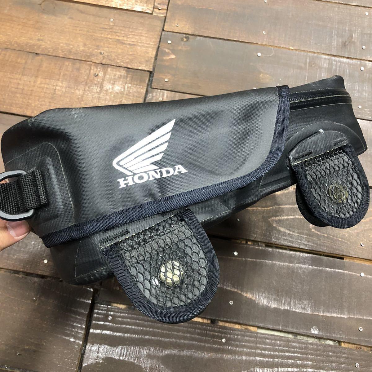 HONDA ホンダ スポルトシート バッグ バイク 中古 使用感あり 止水ジップ ブラック 黒_画像3