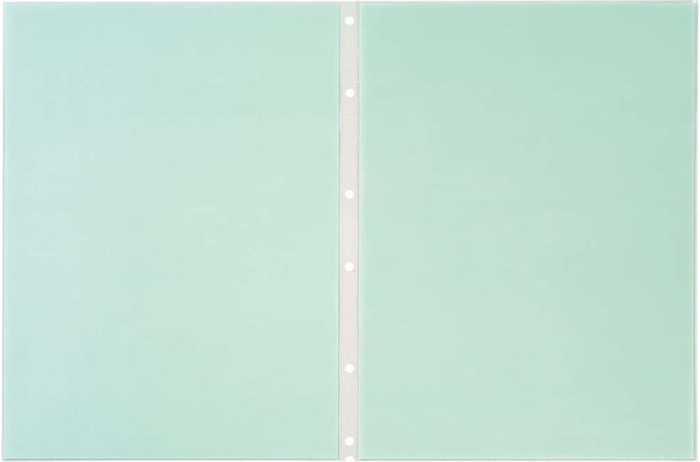 【未使用品】キングジム クリアーファイルエコノミ- ヒクタスP S 青 A4S 7103EDアオ×10パックセット_画像1