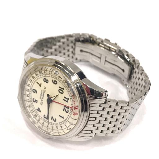 ダンヒル 腕時計 A-セントリック A-Centric DCZ400L 白文字盤 自動巻き メンズ 純正ベルト 稼働 付属有 dunhill_画像6