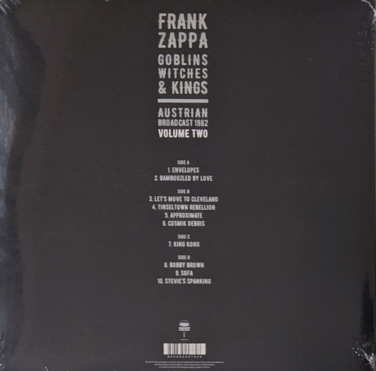 Frank Zappa - Goblins Witches & Kings (Austrian Broadcast 1982) Volume One/Two 限定各二枚組アナログ・レコード・セット