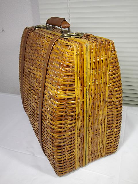 ラタン 籐編み かごバッグ ボストンバッグ 手提げハンドバッグ トランク アタッシュケース ダレスバッグ_画像3