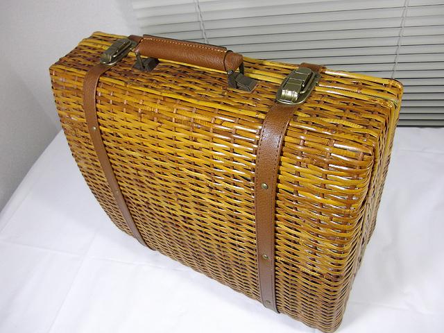 ラタン 籐編み かごバッグ ボストンバッグ 手提げハンドバッグ トランク アタッシュケース ダレスバッグ_画像2