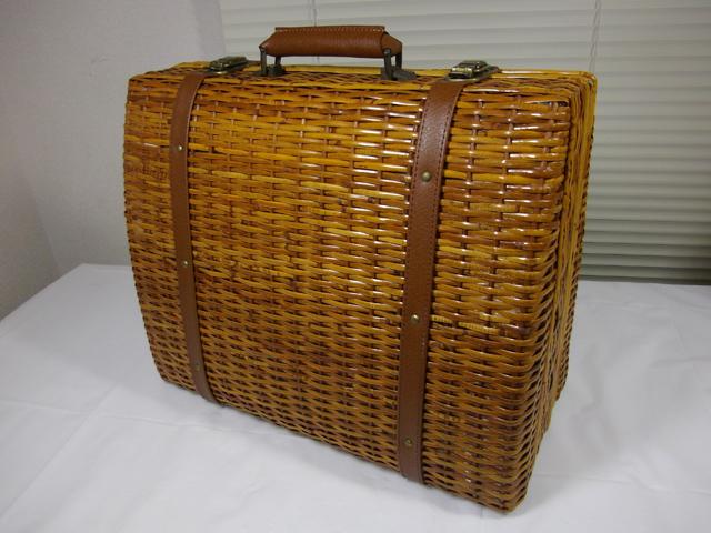 ラタン 籐編み かごバッグ ボストンバッグ 手提げハンドバッグ トランク アタッシュケース ダレスバッグ_画像1
