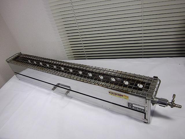 88cm 都市ガス13A 横型 極細 焼き鳥コンロ 焼き物 焼き台 網付き 1本バーナー_画像1