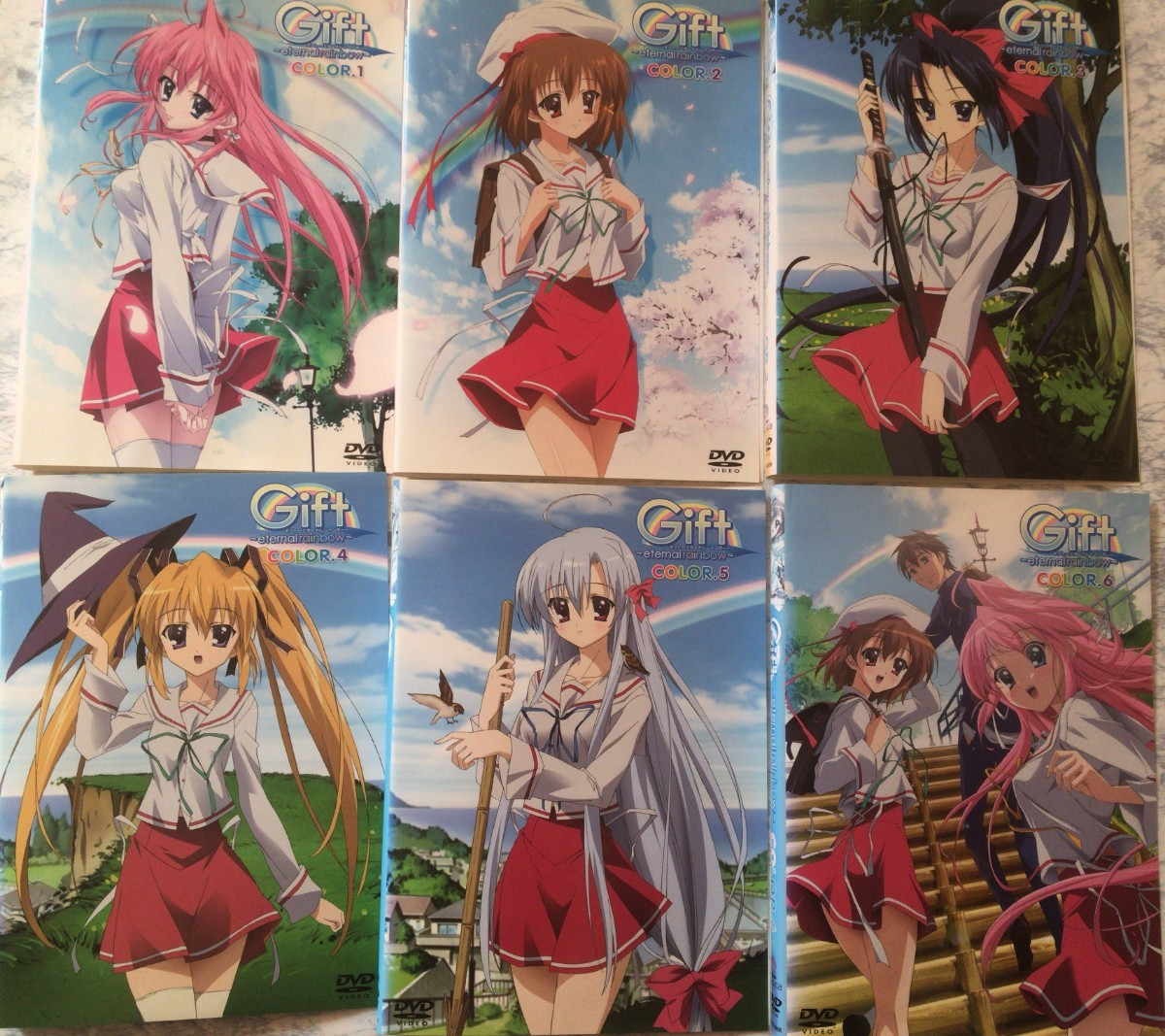 DVD アニメ Gift~eternal rainbow~ 全6巻セット
