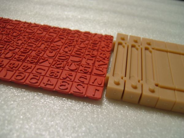 即決 手作りひらがなスタンプ特大&連結棒6本 文字 約7×7mm  手作りスタンプ_画像2