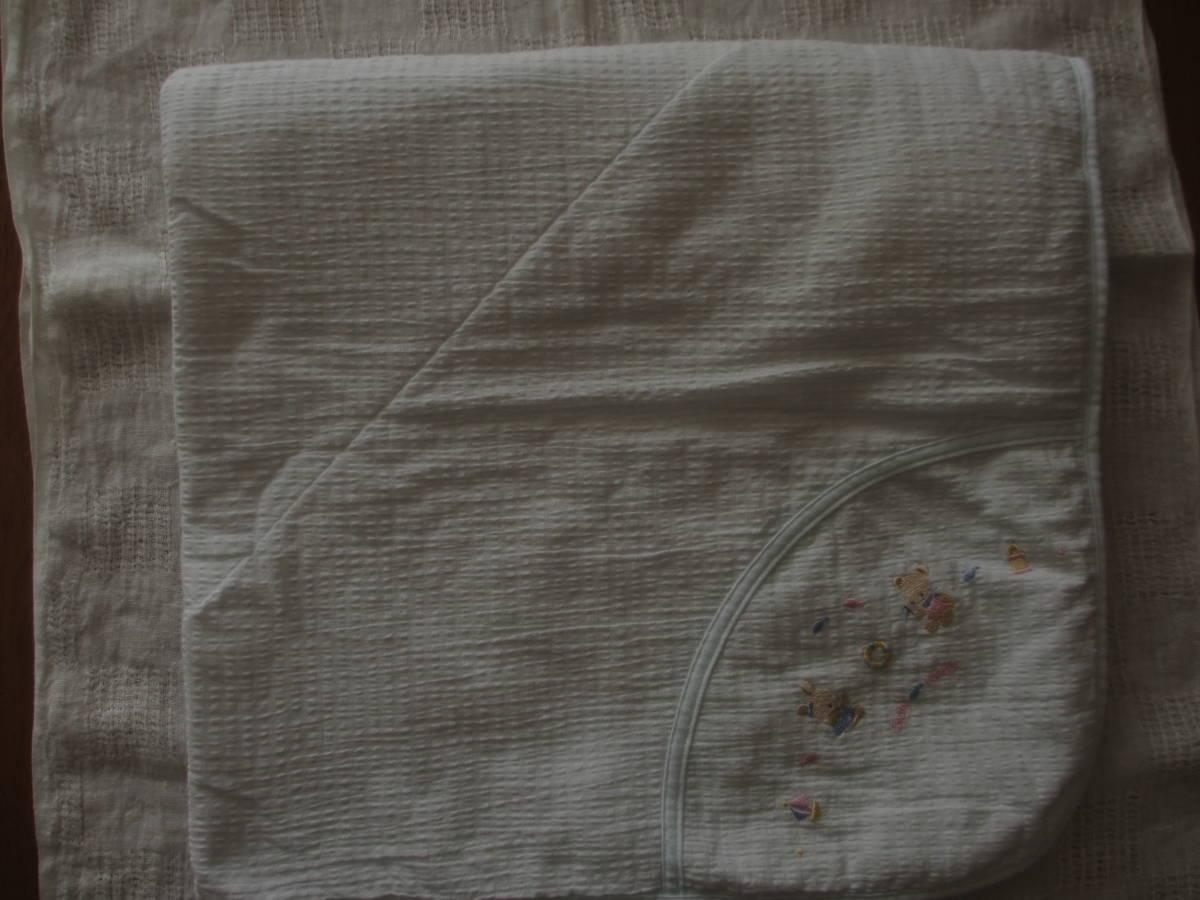 刺繍 おくるみ ひざ掛け 綿 赤ちゃんの城 日本製_画像2