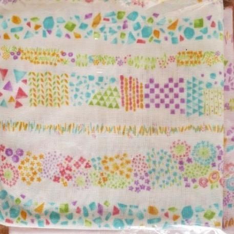 ダブルガーゼ 小花柄 ホワイト&ピンク各112×50 手芸 裁縫 ハギレパッチワーク ハンドメイド