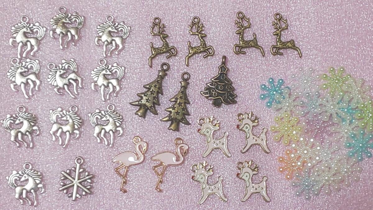 チャーム カボション デコパーツ クリスマス
