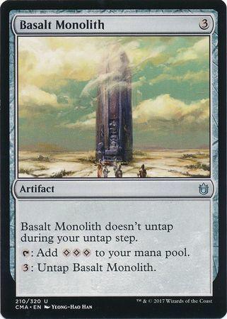 え銀 玄武岩のモノリス 1枚(4枚在庫s 英 良品 CMA)/Basalt Monolith(MTG /Commander Anthology/)_画像1
