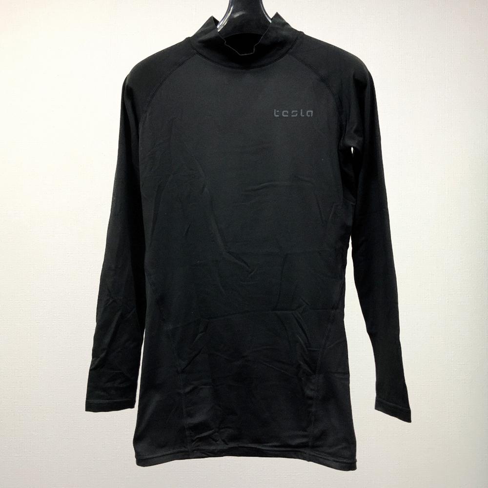 【開封済新品】メンズ/TESLA/スポーツシャツ/M/ブラック/Msp052_BG007