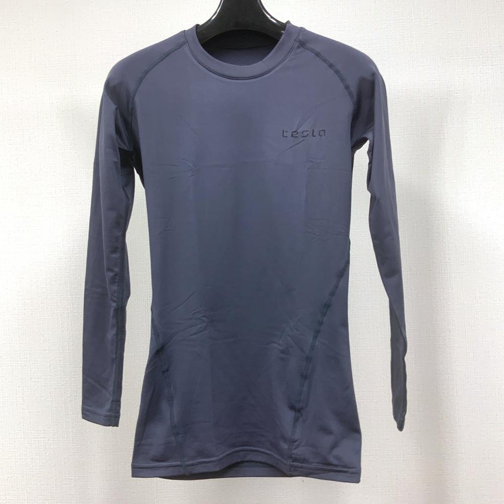 【開封済新品】メンズ/TESLA/長袖スポーツシャツ/S/ダークグレー/Msp025_BG030