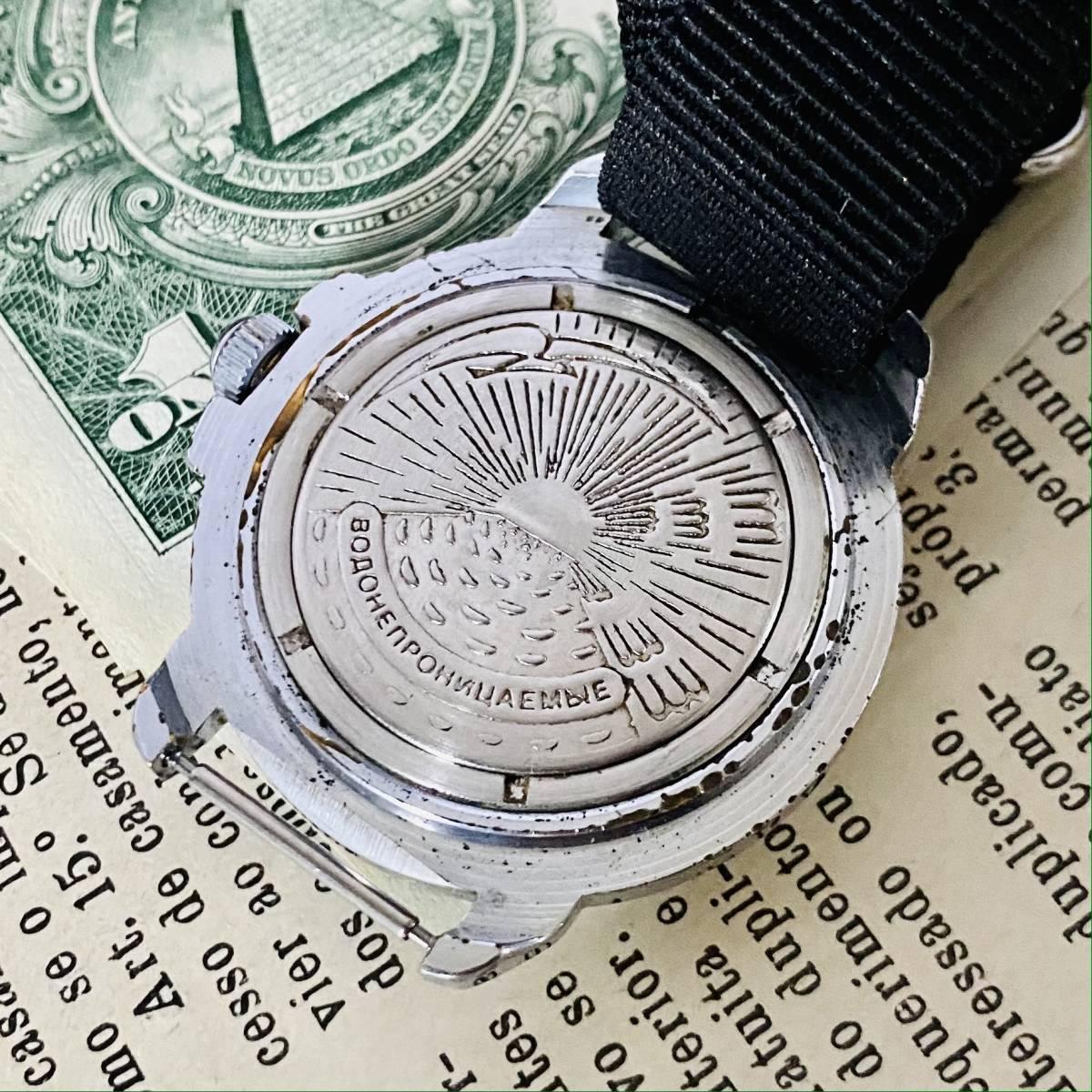 【ミリタリー腕時計】VOSTOK Komandirskie 手巻き 腕時計 メンズ レディース ビンテージ ロシア ボストーク コマンダースキー 24H デイト_画像8