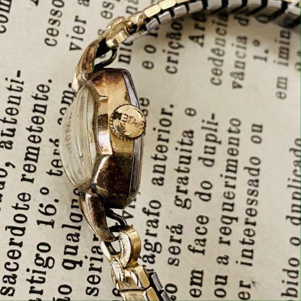 【アンティーク グリュエン】Gruen プレシジョン 10KRGP 1940年代 手巻き メンズ レディース ビンテージ アナログ 腕時計_画像4