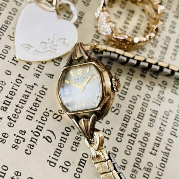 【アンティーク グリュエン】Gruen プレシジョン 10KRGP 1940年代 手巻き メンズ レディース ビンテージ アナログ 腕時計_画像7