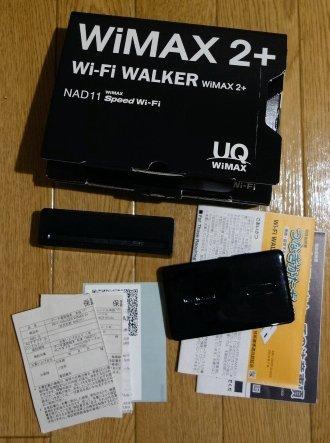 【中古】Wi-Fi WALKER WiMAX 2+ NAD11 クレードル付き_画像1