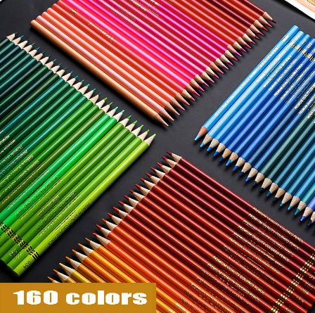 Z2277 160色 油性 色鉛筆セット 塗り絵 イラスト アート スケッチ_画像4