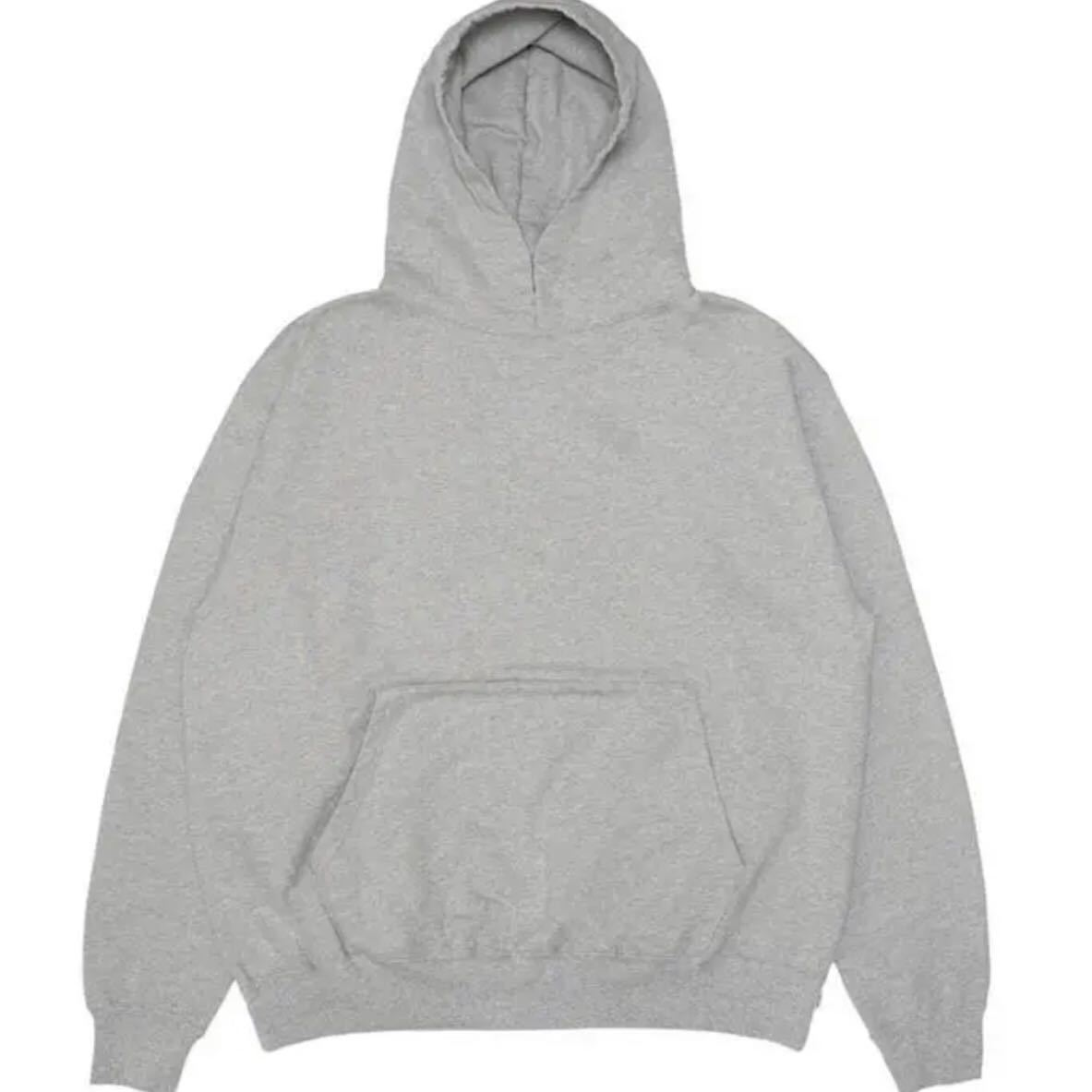 cup and cone Forward Weave Hoodie size 2 supreme minnano champion reverse weave 無地 グレイ灰色_画像4