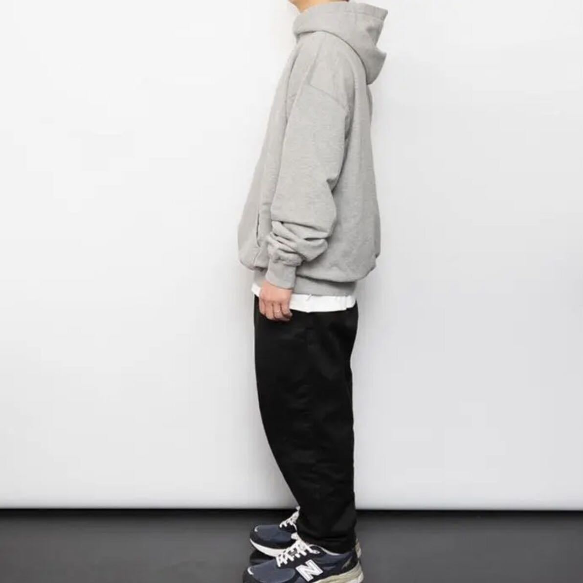 cup and cone Forward Weave Hoodie size 2 supreme minnano champion reverse weave 無地 グレイ灰色_画像3