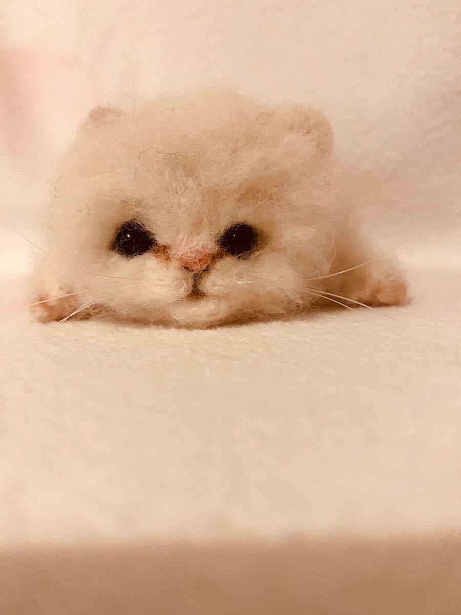 羊毛フェルト ねこ 猫 ハンドメイド_画像2