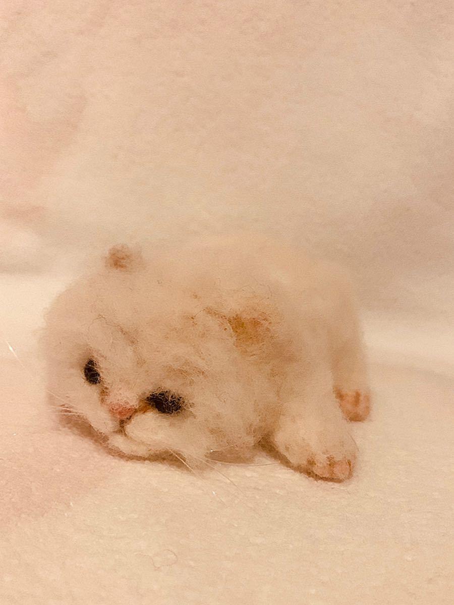 羊毛フェルト ねこ 猫 ハンドメイド_画像1