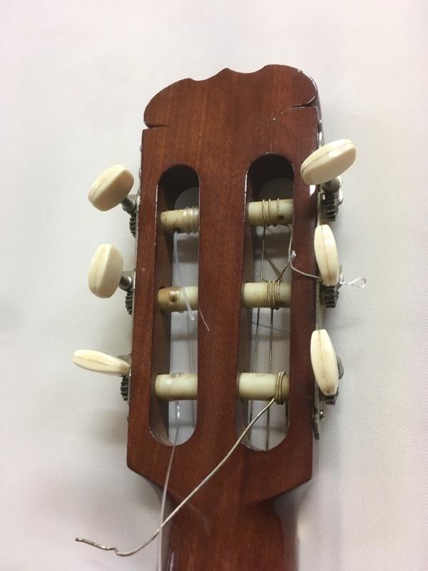 SUZUKI C-10 ネック反り クラシックギター ジャンク u41664_画像3
